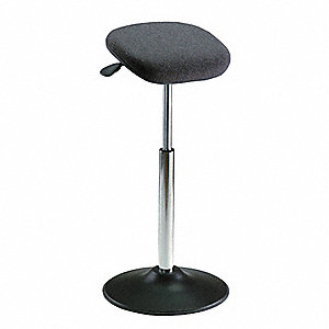 Fabric ESD Standing Support Stool with 300 lb. Weight Capacity, Gray