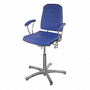 "Task Chair,Poly,Blue,24"" to 34"" Seat Ht"