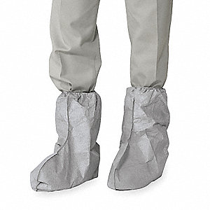 "Boot Covers, Slip Resistant: Yes, Waterproof: No, 18"" Height, Size: Universal, 100 PK"