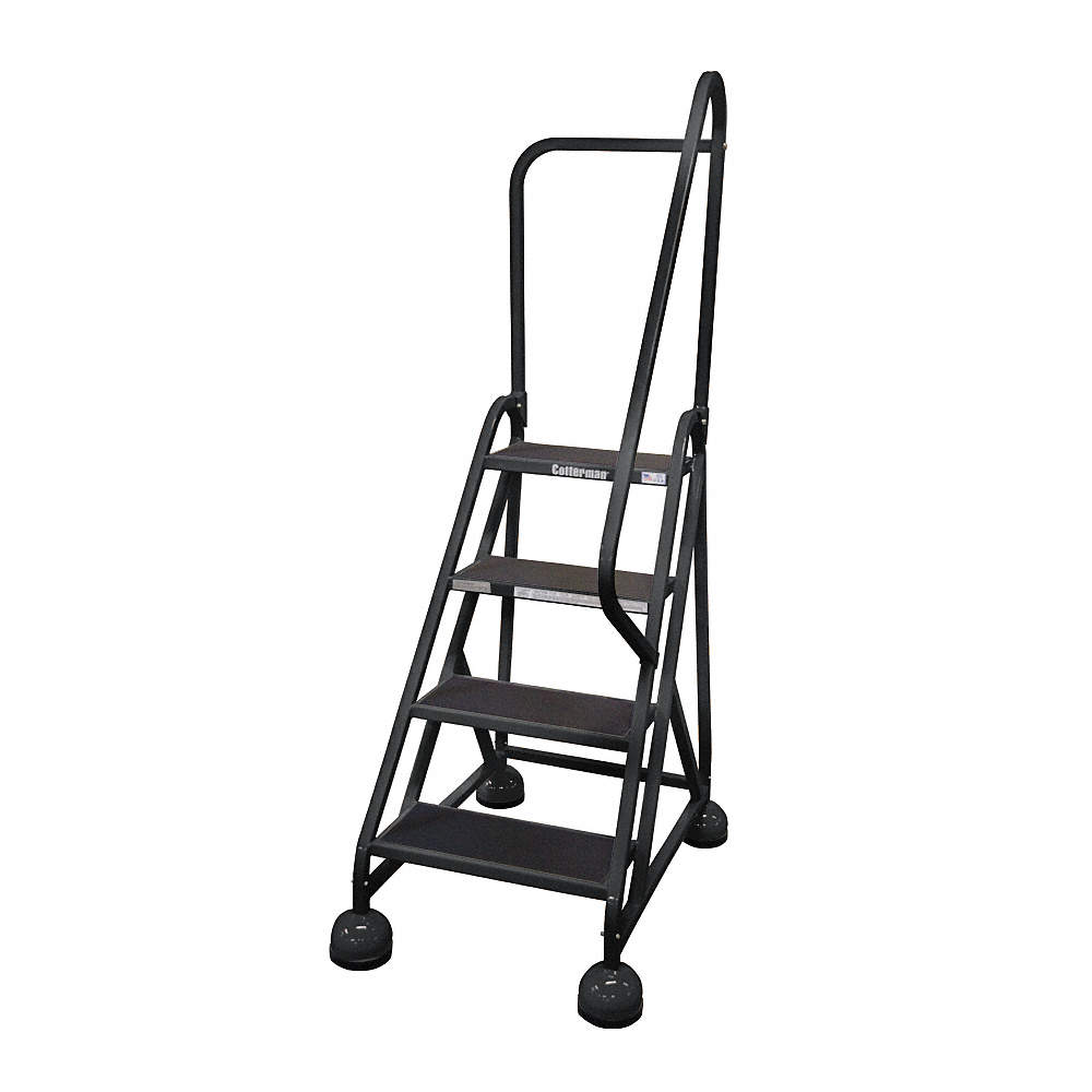 Prime 4 Step Rolling Ladder Antislip Vinyl Step Tread 66 Overall Height 450 Lb Load Capacity Customarchery Wood Chair Design Ideas Customarcherynet