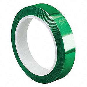 Metalized Film Tape,Green,1/4In x 72Yd