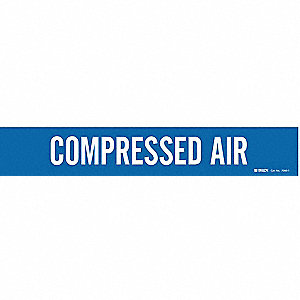Pipe Mrkr, Compressed Air, 2-1/2to7-7/8 In