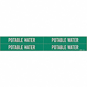 "Pipe Marker,1-1/8""H,7""W,PK4"