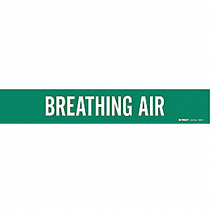 Pipe Mrkr,Breathing Air,2-1/2to7-7/8 In