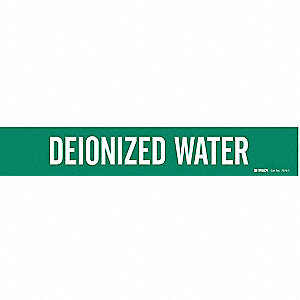 Pipe Mrkr,Deionized Water,2-1/2to7-7/8In