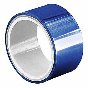 "Blue Polyester Metalized Film Tape, 3/8"" Width, 5 yd. Length, 2 mil Thickness"