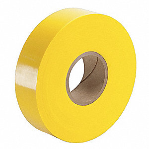 "Vinyl Plating Tape, No Adhesive Tape Adhesive, 4.00 mil Thick, 1/2"" X 250 ft., Yellow, 1 EA"