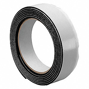 "Loop-Type Reclosable Fastener with Rubber Adhesive, Black, 1"" x 30 ft., 1EA"