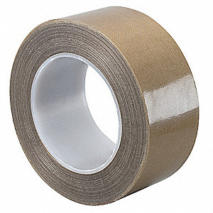 "Utility Slick-Surface Tape, 6"" X 36 yd., 8.20 mil Thick, Brown Coated Cloth, 1 EA"