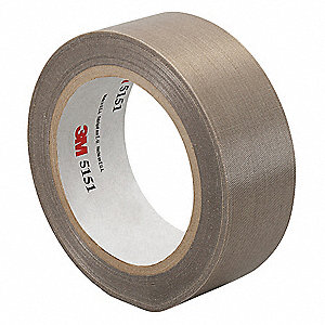 "Light-Duty Slick-Surface Tape, 3"" X 36 yd., 4.50 mil Thick, Brown Coated Cloth, 1 EA"