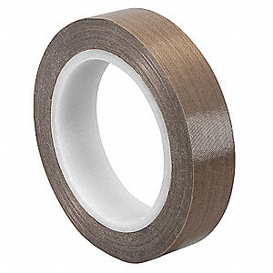 "Light-Duty Slick-Surface Tape, 1/2"" X 36 yd., 4.70 mil Thick, Brown Coated Cloth, 1 EA"