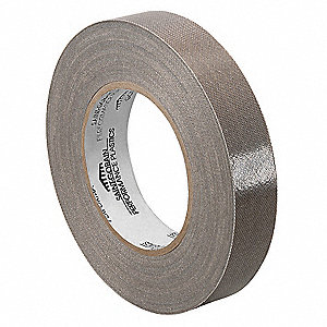 Industrial Slick-Surface Tape, 0.5 in X 36 yd, 11.7 mil Thick, Brown Coated Cloth, 1 EA