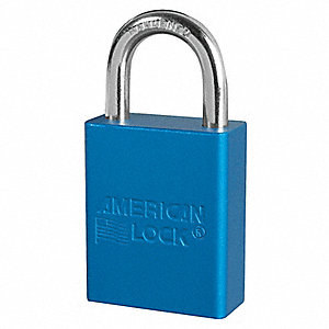 "Lockout Padlock,KA,Blue,1-7/8""H,PK12"