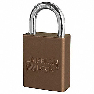Brown Lockout Padlock, Alike Key Type, Master Keyed: No, Aluminum Body Material