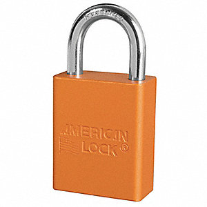 Orange Lockout Padlock, Alike Key Type, Aluminum Body Material