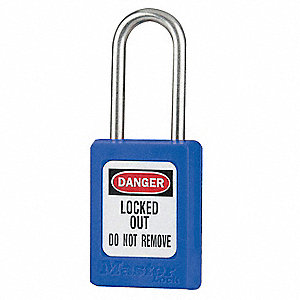 "Lockout Padlock,KA,Blue,1-13/16""H,PK12"