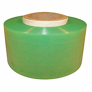 "Stretch Wrap, Hand Dispensed, 1-Side Cling, Standard, 2"" x 650 ft., Gauge: 120, Green"