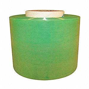 "Stretch Wrap, Hand Dispensed, 1-Side Cling, Standard, 3"" x 650 ft., Gauge: 120, Green"