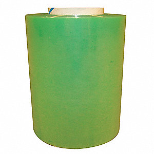 "Stretch Wrap, Hand Dispensed, 1-Side Cling, Standard, 4"" x 1000 ft., Gauge: 60, Green"