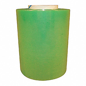 "5"" x 1000 ft. Polyethylene Hand Stretch Wrap, 60 Gauge, Green, 4PK"