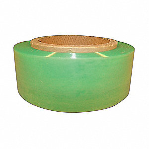 "Stretch Wrap, Hand Dispensed, 1-Side Cling, Standard, 2"" x 700 ft., Gauge: 120, Green"