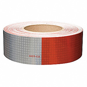 REFLECTIVE TAPE,W 2 IN,RED/WHITE