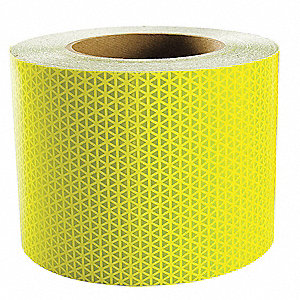 Reflective Tape,W 6 In,Lime