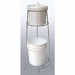 Wire Wipes Dispenser w/Trash Receptacle