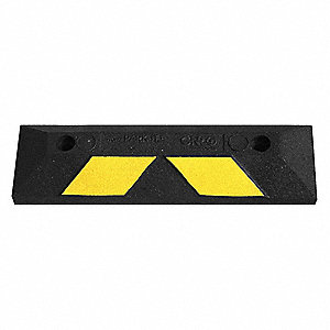 Garage Parking Curb,22 x 4 x 6 In,Rubber
