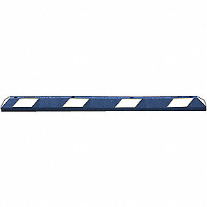 Parking Curb,72x4x6 In,Blue White Tape