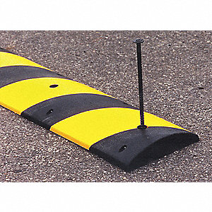Speed Bump,72 In,Black w/Yellow Tape