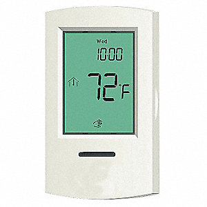 Digital Thermostat, 40 to 95°F, 120VAC