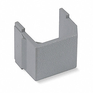 Blank Keystone Insert, Gray, Plastic, Series: iSTATION, Cable Type: None