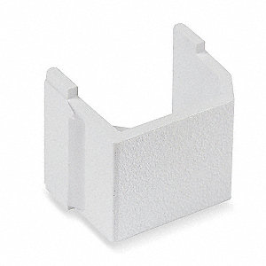 Blank Keystone Insert, White, Plastic, Series: iSTATION, Cable Type: None