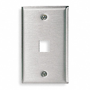 Gray Wall Plate, Steel, Number of Gangs: 1