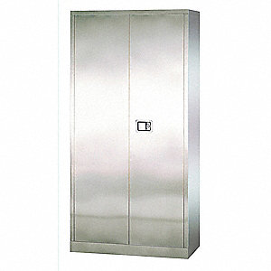 "Storage Cabinet, Gray, 78"" Overall Height, Assembled"