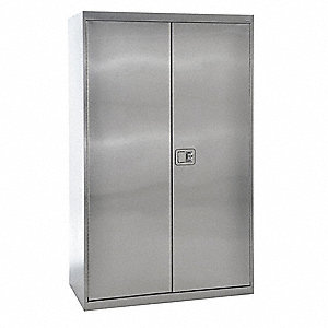 "Industrial Storage Cabinet, Gray, 78"" H X 48"" W X 24"" D, Assembled"