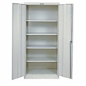 "Storage Cabinet, Parchment, 78"" Overall Height, Unassembled"