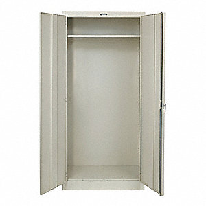 "Commercial Storage Cabinet, Tan, 78"" H X 36"" W X 18"" D, Unassembled"