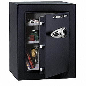 "21-3/4"" x 19-3/4"" x 27.7"" Floor Safe, Black&#x3b; Holds Valuables, Electronics and Documents"