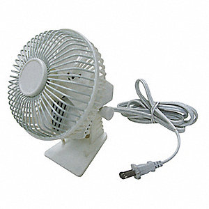 "Non-Oscillating, 4-1/2"" Table Fan, 120V Voltage"