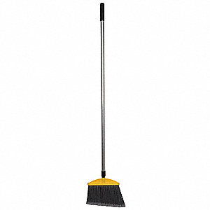 "Angle Broom,Head and Handle,11"",Silver"