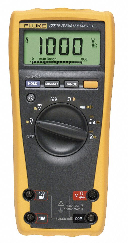 FLUKE (R) Fluke-177 Full Size - General Features Digital Multimeter,  Instrument Counts: 6000