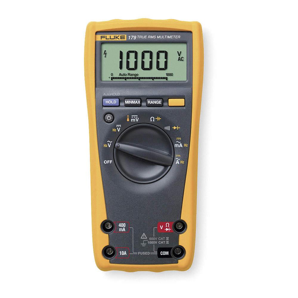 Digital Multimeter Safety Precautions Grainger Industrial Supply Dc Converter Measuring Ac Voltage From True Rms