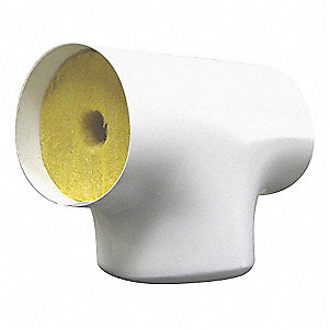"3/4"" Pipe Fitting Insulation for Tee, Fiberglass, White"