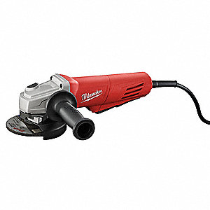 "Angle Grinder, 4-1/2"" Wheel Dia., 11 Amps, 120VAC, 11,000 No Load RPM, Paddle Switch"
