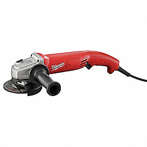 "Angle Grinder, 4-1/2"" Wheel Dia., 11 Amps, 120VAC, 11,000 No Load RPM, Trigger Switch"