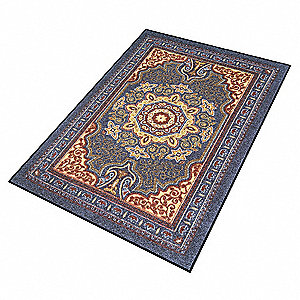 Carpeted Entrance Mat,Sapphire,4ft.x6ft.
