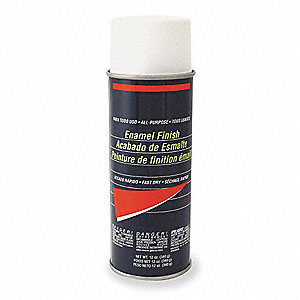 White Spray Paint, Flat Finish, 10 oz.