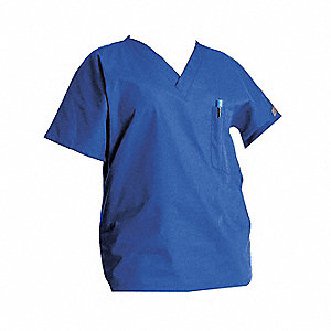 Scrub Shirt,2XL,Blue,Womens